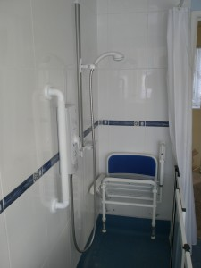 Shower - the disabled seat went via Freecycle