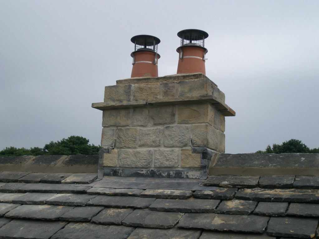 Main chimney - rebuilt