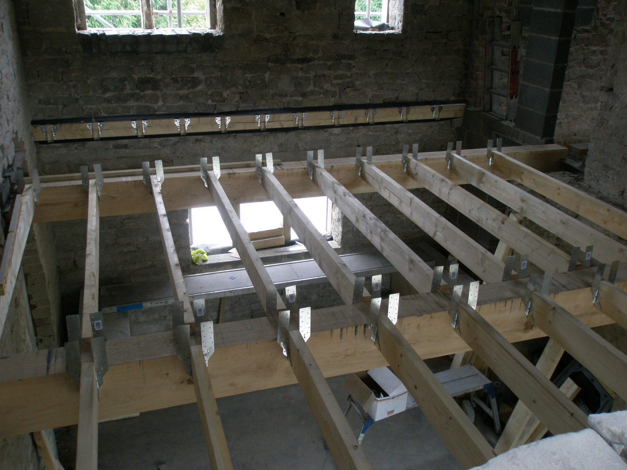 Beams And Joists In Number 9 Renovating Hagg Leys Farm