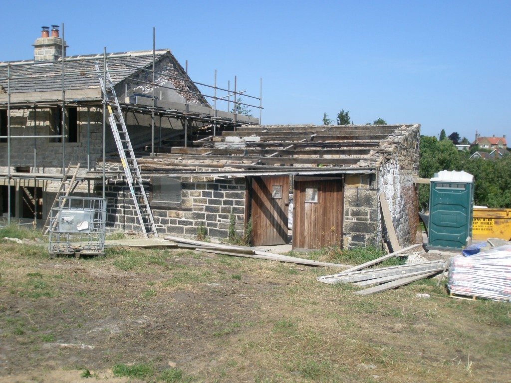 As part of the phase 2 work, the barn will be demolished and rebuilt.