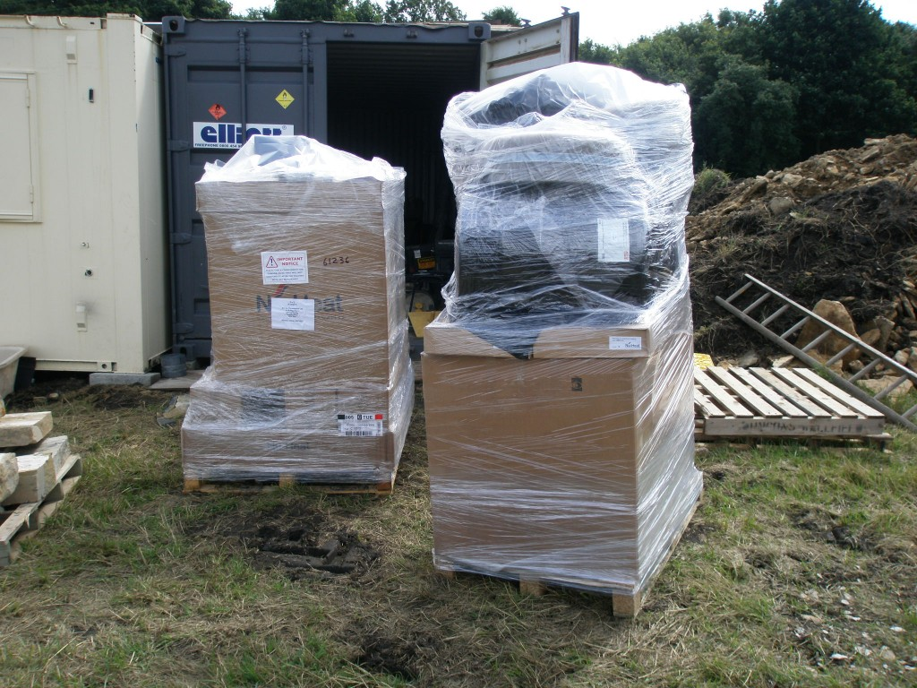 The underfloor heating is going to be fitted next week and the kit has arrived ahead of the installation.
