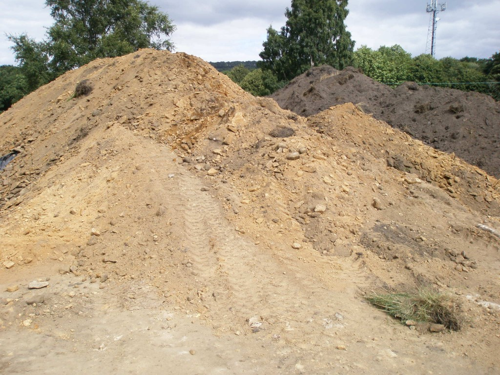 This is the heap of sub soil that we have excavated as the second part of installing the ground loops. There is a lot more to come out before we are ready to install the last 1000m of pipework.