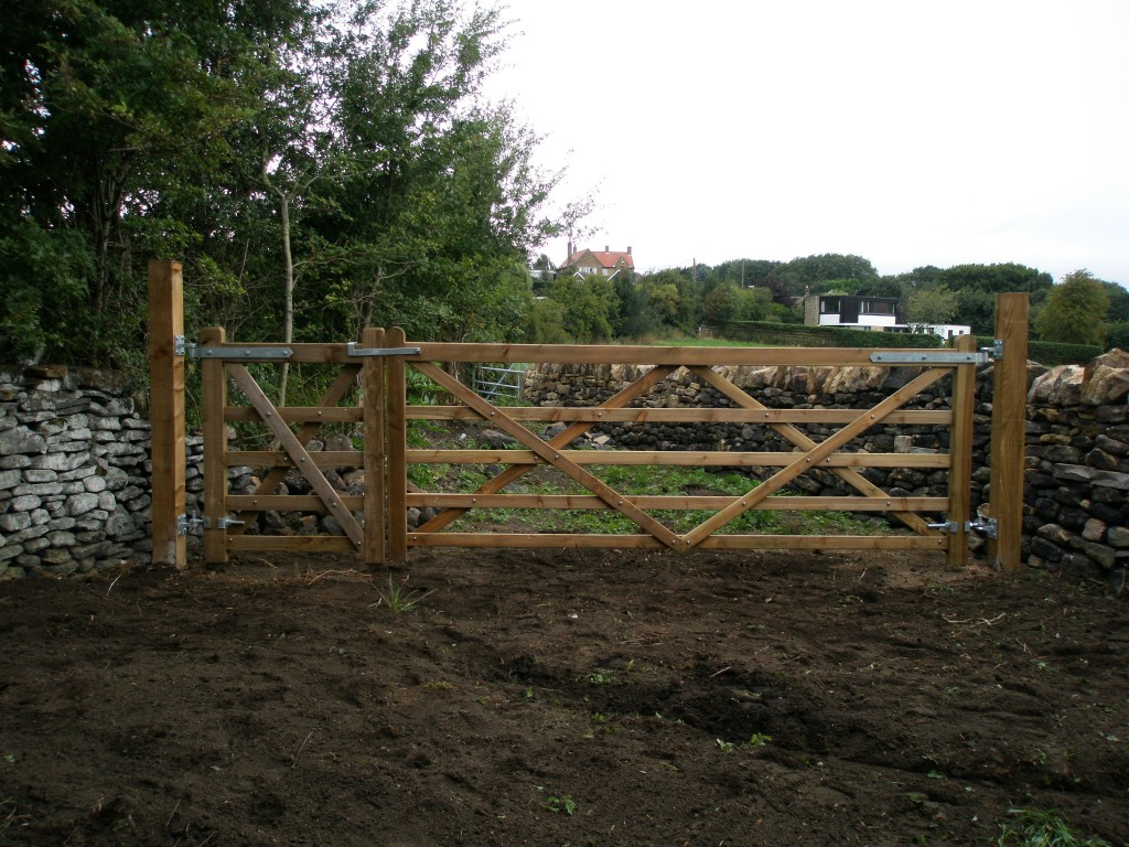 All of the hardware for the gates is from Earnshaw's in Midgley.  It isn't cheap, but it does a great job.