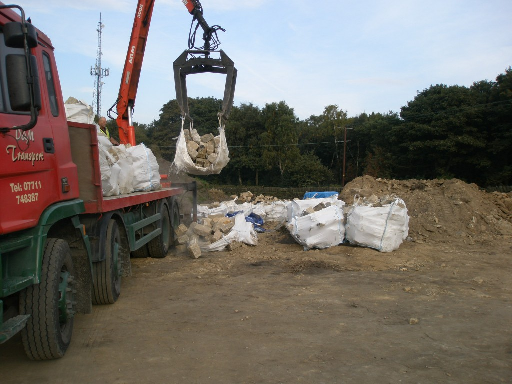 These are one tonne bags that have more than a tonne in them.  No prizes for guessing what happens!