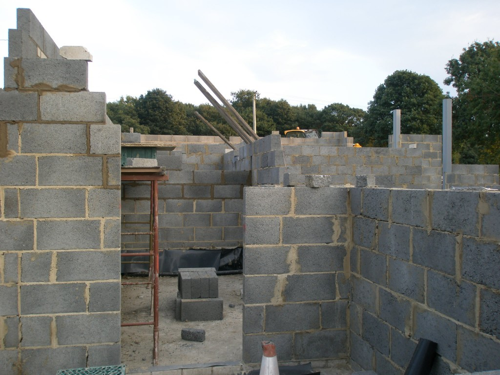 At this rate, we will have a large proportion of the blockwork completed before the end of the week.
