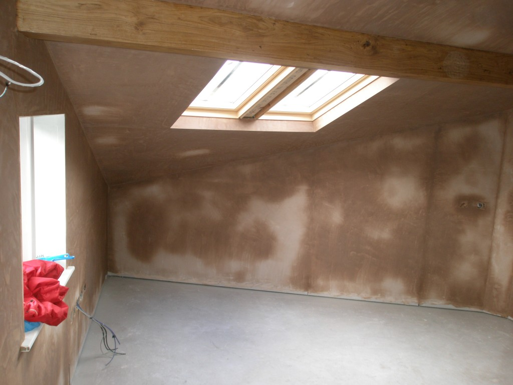 This room is a really odd shape, but it all adds to the character of the property.  I am so glad that we increased the size of the windows in here as well as swapping the original steel beam for an oak one!  It is going to take 3-4 days for the plaster to dry.