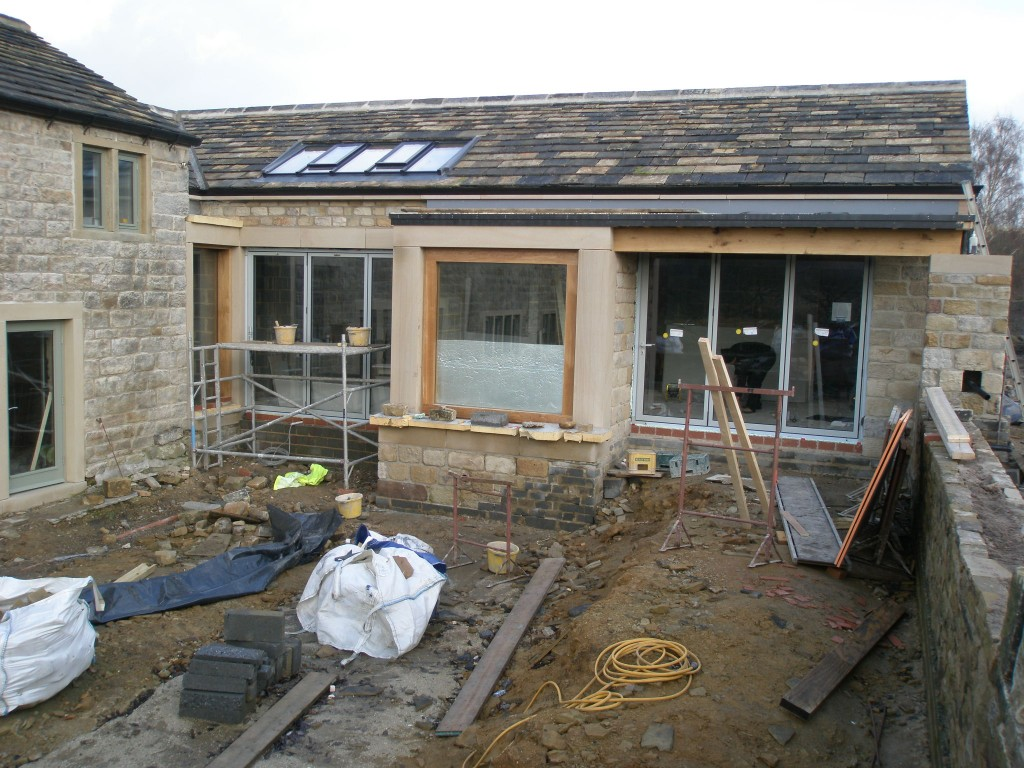 The bi-folding doors certainly improve the appearance of the front elevation of the new extension.
