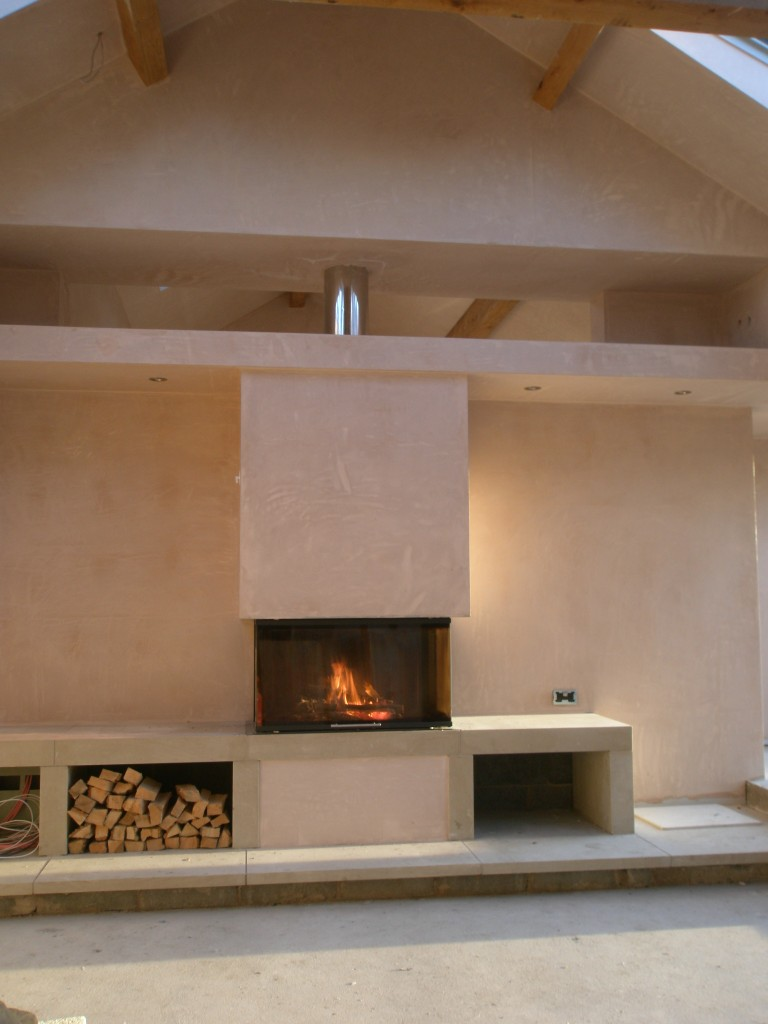 Fireplace plastered