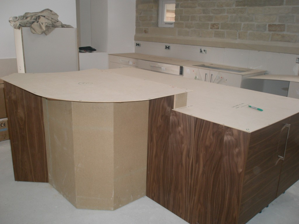 kitchen worktop cutting template - update on the kitchen renovating hagg leys farm