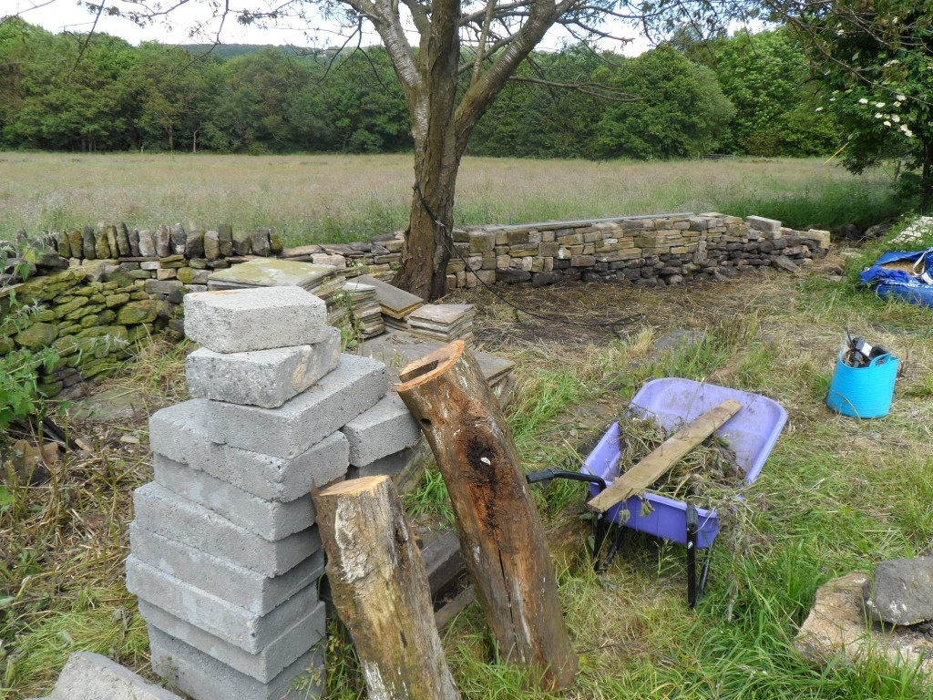 Now this corner of field has been cleared, we can get on with rebuilding the dry stone wall along the edge of the top field.