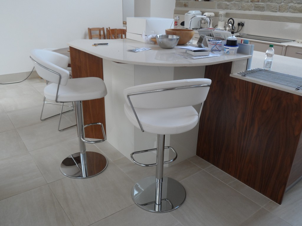 New stools for the island unit that match the chairs for the kitchen table.  It took quite a lot of effort to find these.
