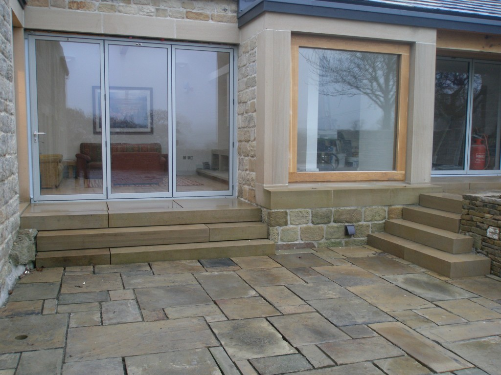 We still have to point the flagstones.  This will be done using lime pointing (just like the main house), however, this is going to have to wait for better weather.