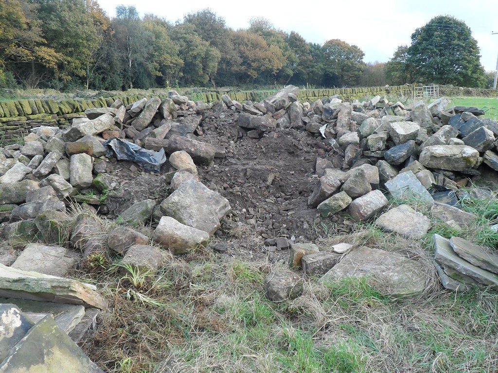 There was a fair mixture of stone in this pile.  To be fair, most of it was pretty good walling stone so it didn't take long to build some new stone walls in the top field.